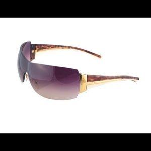 Authentic Prada rimless shield sunglasses